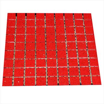 Ruby Red Sparkly Quartz Mosaics Stardust Tiles Tilesporcelain