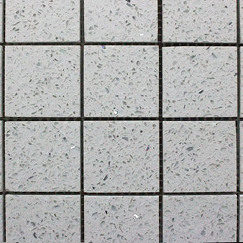 Diamond White Quartz Mosaic