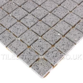 Zultanite Grey Quartz Mosaic Tiles