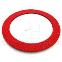 Red Circular Quartz Mirrors