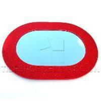 Red Oval Quartz Mirrors