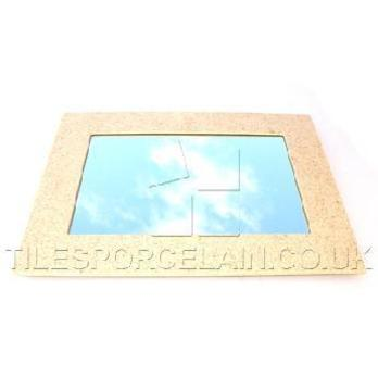 Cream Sparkly Quartz Rectangle Mirror - Tilesporcelain.co.uk