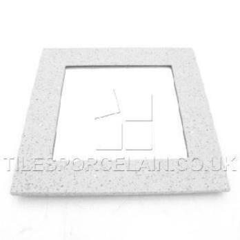 White Square Quartz Mirrors