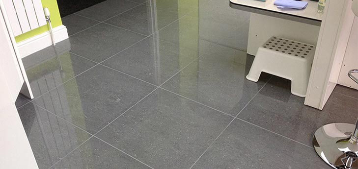 Dark Grey Kitchen Floor Porcelain Tiles