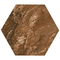 Country Brick Brown Hexagon