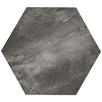 Country Brick Dark Grey Hexagon