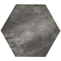 Country Brick Dark Grey Hexagon
