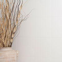 White Flat Ceramic Wall Tile