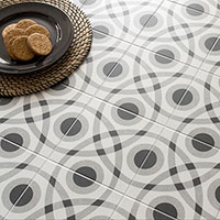 Twenties Circle Design Porcelain Tiles