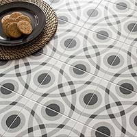 Twenties Circle Design Porcelain Tiles