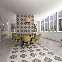Twenties Crest Design Porcelain Tiles