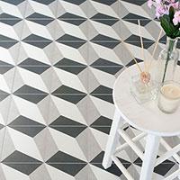 Twenties Diamond Design Porcelain Tiles