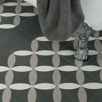 Twenties Petal Design Porcelain Tiles