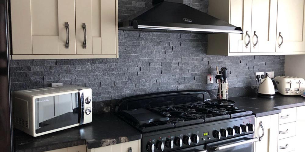 Charcoal Grey Stone Cladding