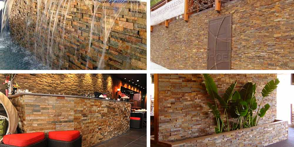 Multi Ochre Cladding Rock Panel - Natural Stone | Tilesporcelain