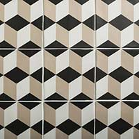 Soho Beige Cube Decor Matt Tiles