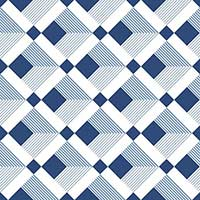 Soho Blue Square Decor Matt Tiles