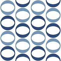 Soho Blue Circles Decor Matt Tiles