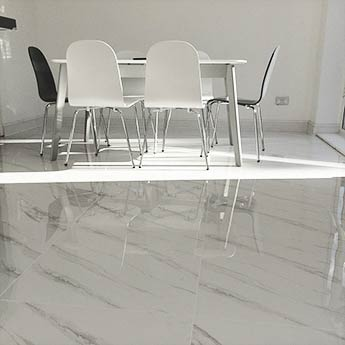 White Carrara Marble Effect Porcelain Tiles