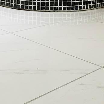 white carrara porcelain tile