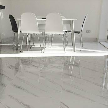 Carrara White Marble Effect Porcelain Tiles | Tilesporcelain