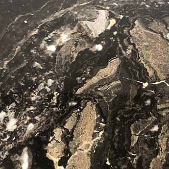 Black Stone Marble Effect Polished