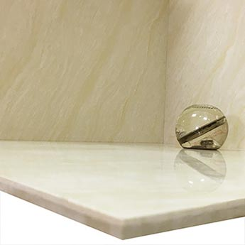 Cream Marble Effect Polished Porcelain Tiles