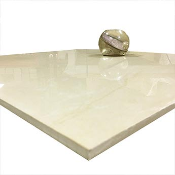 Polished Cream Porcelain Tiles With A Slight Marble Effect