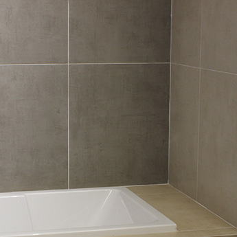 Grey Matt Textile Porcelain Tiles 600mm X 600mm
