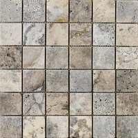 Silver Travertine Mosaic Tile