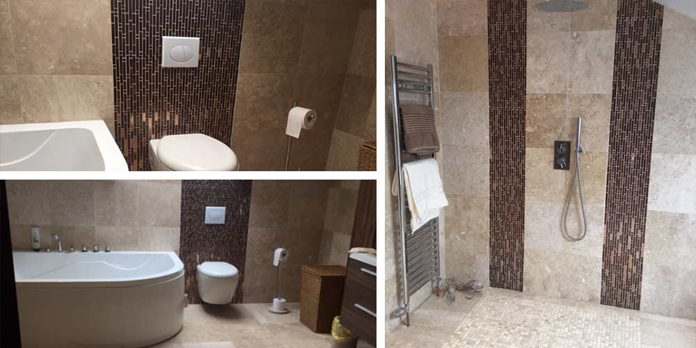 Customer combines two of our tiles