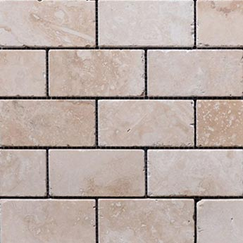 White Travertine Brick Tiles