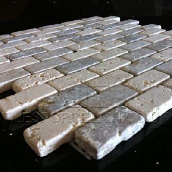 Noce White Random Brick Mosaic Tiles