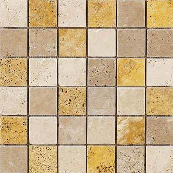 Noce Yellow Travertine Mosaic Tiles