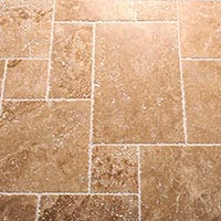 Light French Chipped Edge Travertine Pattern Set