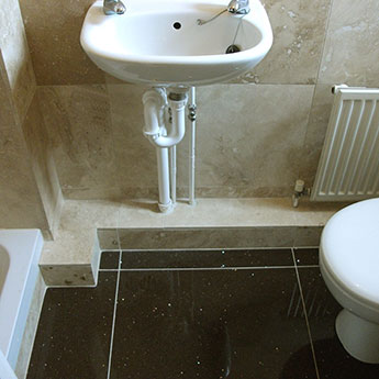 Light Cream Travertine Effect Tiles