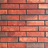 Volcano Red Rustic Handmade Vintage Brickslip