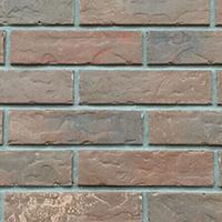 Charcoal Red Rustic Handmade Vintage Brickslip