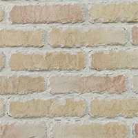 Cream Rustic Handmade Vintage Brickslip