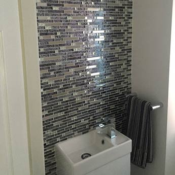 Silver Jewelled Glass Mosaic Tiles
