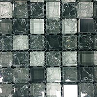 Crackled Night Glass Mosaic Tiles