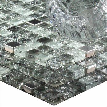 crackled night glass mosaics mosaic tiles tilesporcelain