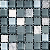 Silver Destiny Glass Mosaic Tiles