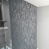 Winter Stripe Glass Mosaic