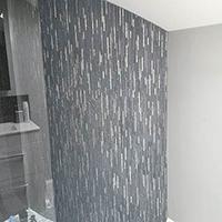 Winter Stripe Glass Mosaic