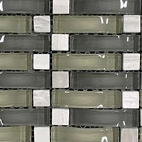Dark Northern Wave Glass Mosaic Tiles