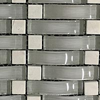 Light Northern Wave Glass Mosaic
