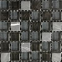 Black Destiny Glass Mosaic Tiles