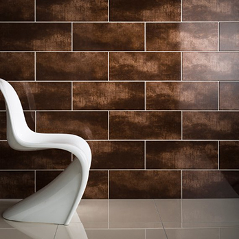 Zeppelin Bronze Gloss Ceramic Tiles Zepl3a Tilesporcelain