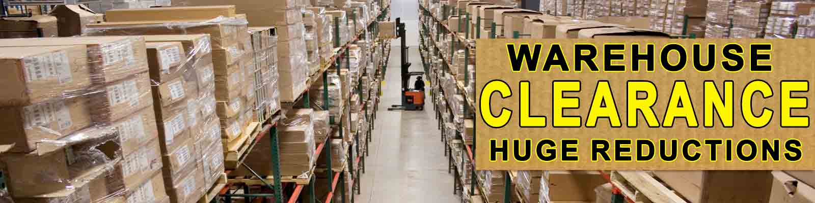 Warehouse Clearance Sale May